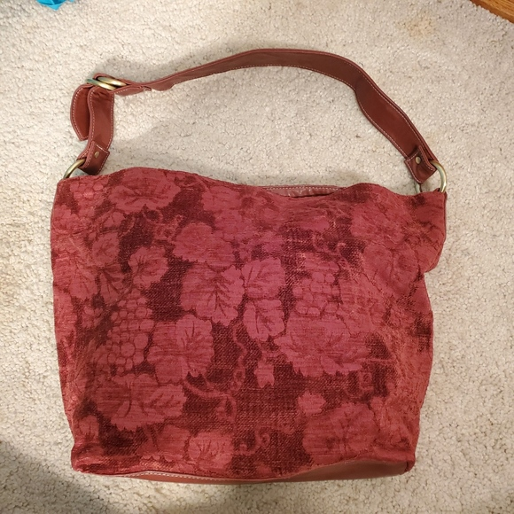 Sonoma Handbags - Sonoma Floral flower bag soft velvet with strap